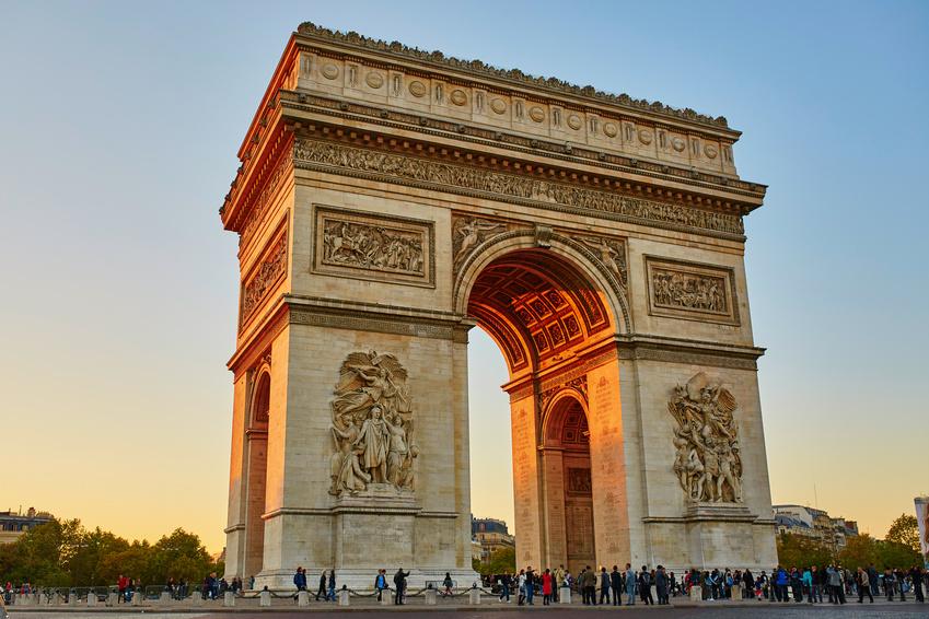 Arco do Triunfo pedestres
