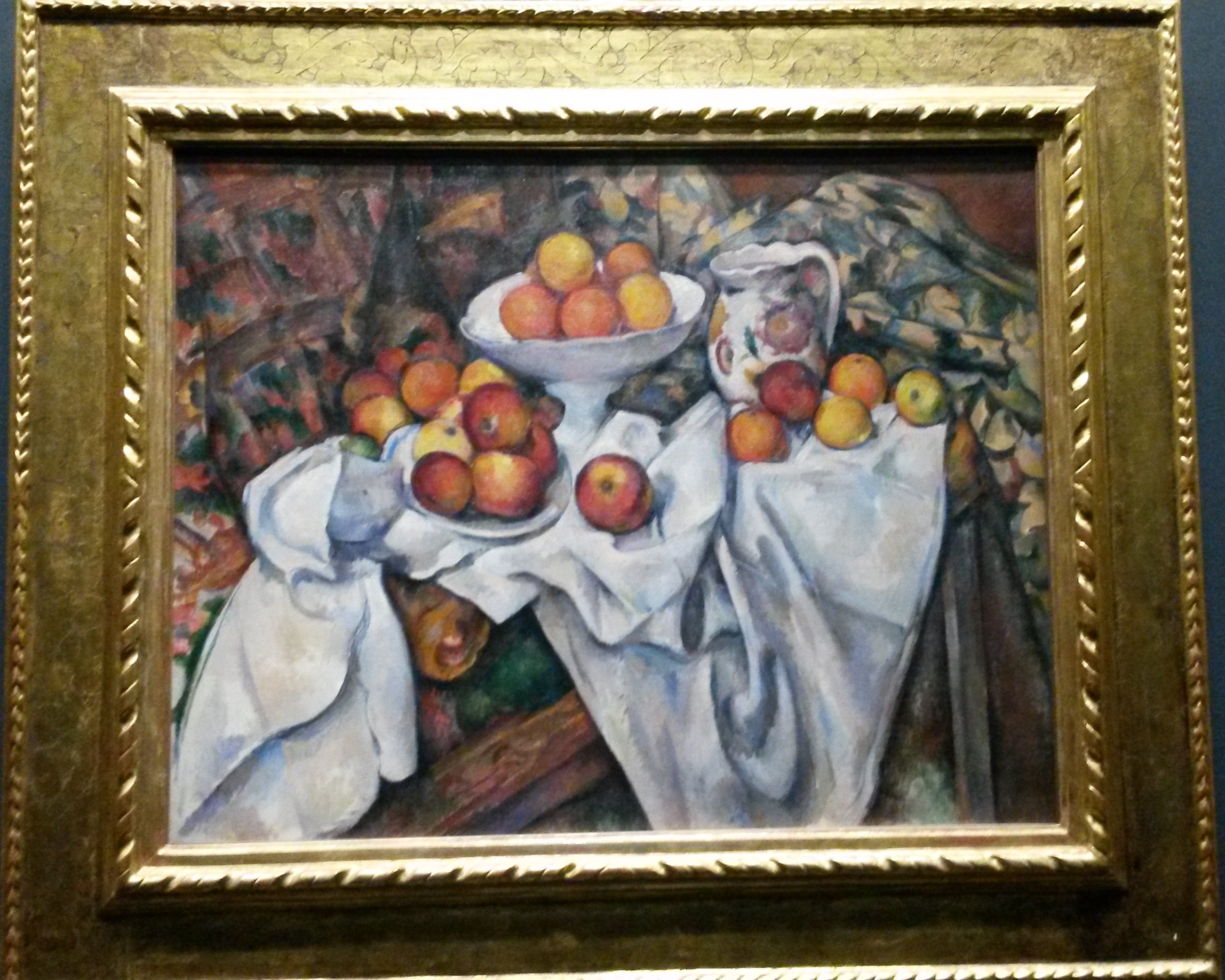 Natureza-morta com maçãs e laranjas