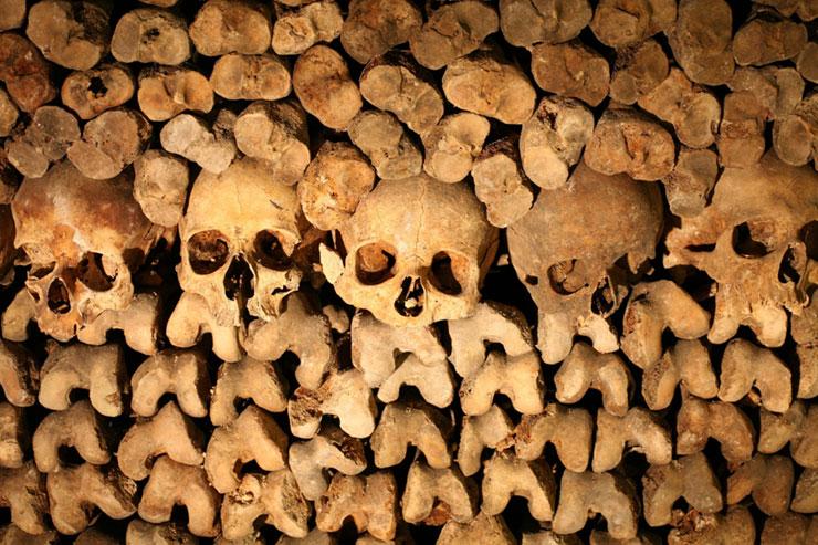 Catacumbas Paris, huesos