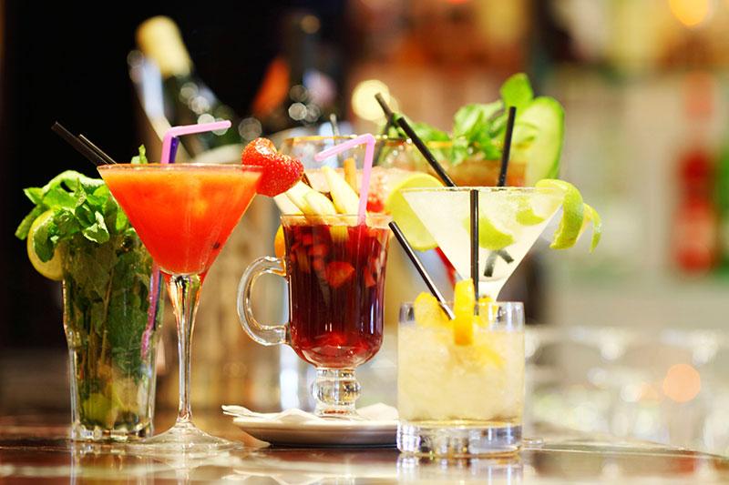 Cocktails sur comptoir