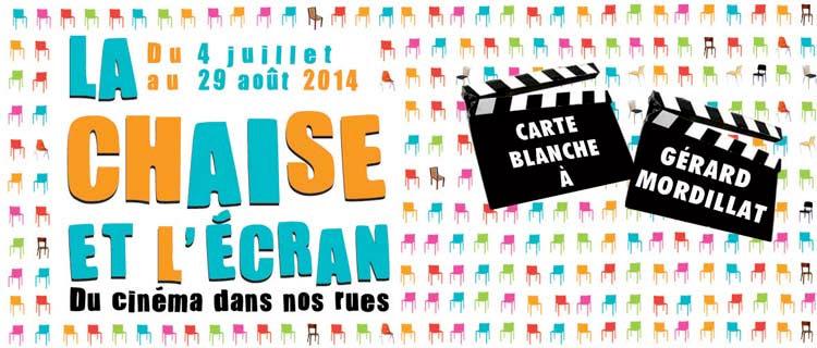 Affiche du festival La Chaise et l'Ecran