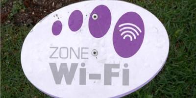 Panneau de signalétique de Wi-Fi
