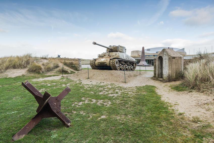 Tanque de guerra em Utah Beach