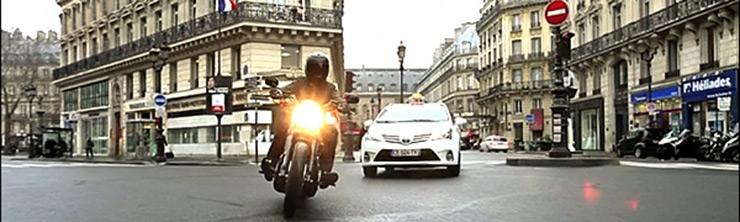 Movie scene in Paris