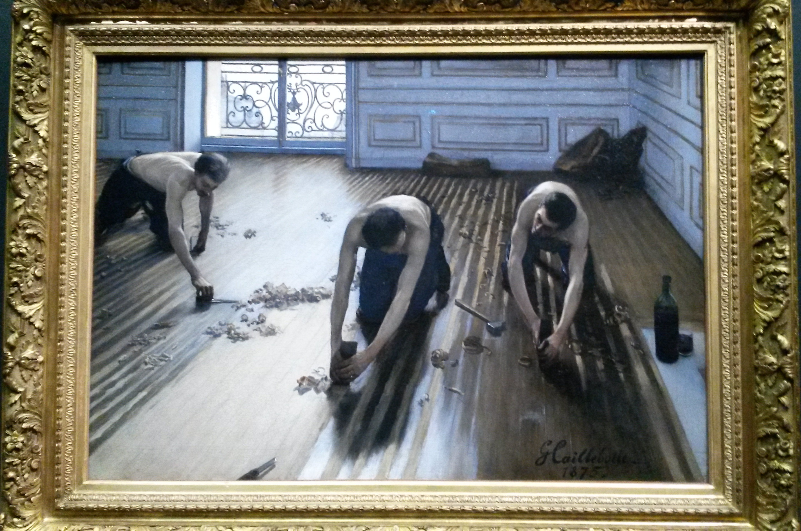 Top 15 best works from the musee dorsay pariscityvision for Gustave caillebotte les raboteurs de parquet